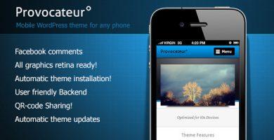 قالب Provocateur - قالب وردپرس موبایل