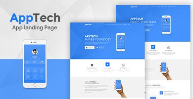 AppTech - قالب صفحه فرود برای وردپرس