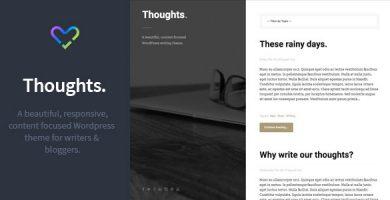 قالب Thoughts - قالب وبلاگ نویسی وردپرس