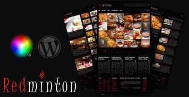 قالب Redminton - قالب وردپرس رستوران