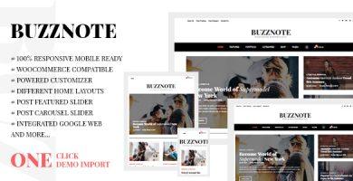 قالب Buzznote - قالب وبلاگ وردپرس