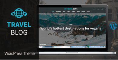 قالب Travel Blog - قالب وردپرس وبلاگ سفر