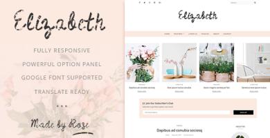 قالب Elizabeth - قالب وبلاگ وردپرس