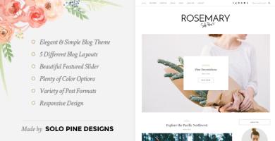 قالب Rosemary - قالب وبلاگ وردپرس