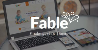 Fable - قالب وردپرس مهد کودک