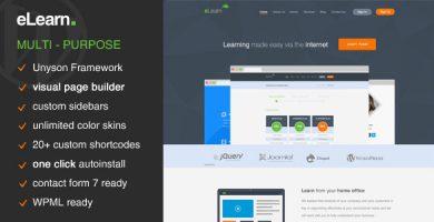 eLearn - قالب وردپرس چند منظوره