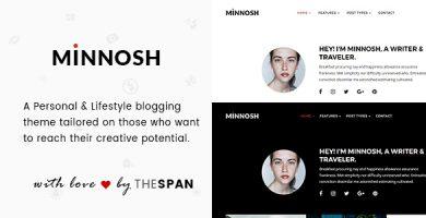 قالب Minnosh - قالب سایت شخصی و لایف استایل