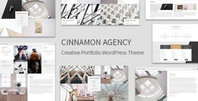 قالب Cinnamon Agency - قالب نمونه کار خلاقانه وردپرس