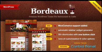 قالب Bordeaux - قالب وردپرس رستوران فوق العاده