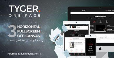 Tyger - قالب وردپرس شرکتی ساده