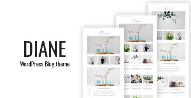 قالب Diane - قالب وردپرس وبلاگی مینیمال