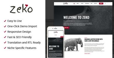 Zeko - قالب وردپرس خیریه