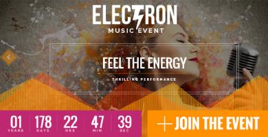 قالب Electron - قالب وردپرس کنفرانس و رویداد