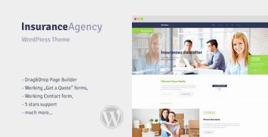 قالب Insurance - قالب وردپرس برای دفتر بیمه