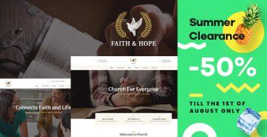 قالب Faith & Hope - قالب وردپرس کلیسا و مذهب