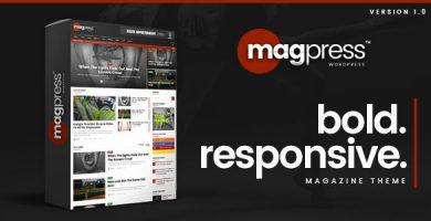 قالب Magpress - قالب وردپرس اخبار مهم و مجله ای