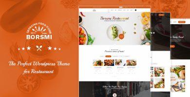 Borsmi - قالب وردپرس رستوران
