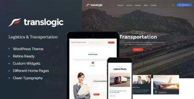 Translogic - قالب وردپرس لجستیک و حمل و نقل