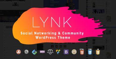 قالب Lynk - قالب وردپرس شبکه های اجتماعی