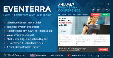 قالب Eventerra - قالب وردپرس رویداد / کنفرانس