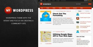 قالب My WordPress - قالب وردپرس وبلاگ شخصی
