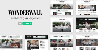 Wonderwall - قالب مجله ریسپانسیو