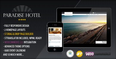 قالب Paradise Hotel - قالب وردپرس هتل