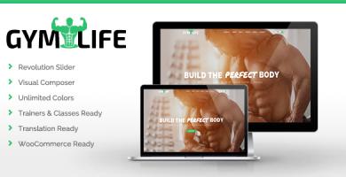 قالب GymLife - قالب وردپرس باشگاه یوگا و تناسب اندام