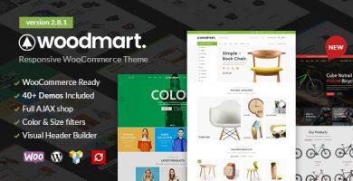قالب وودمارت | WoodMart - قالب وردپرس فروشگاهی