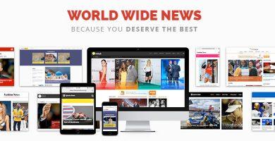 News - قالب مجله خبری و روزنامه