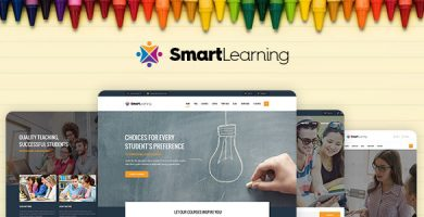 قالب Smart Learning - قالب آموزشی برای وردپرس