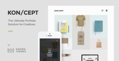 قالب KON/CEPT - قالب نمونه کار برای افراد خلاق