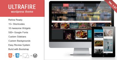 قالب UltraFire - قالب وردپرس وبلاگ
