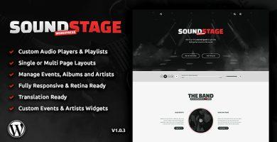 قالب Sound Stage - قالب وردپرس حرفه ای برای مسیقی و گروه های موزیک