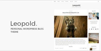 قالب Leopold - قالب وبلاگ وردپرس شخصی