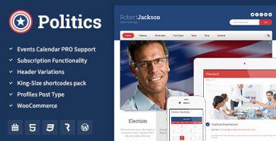 Politics - قالب وردپرس انتخابات