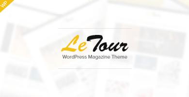 قالب LeTour - قالب مجله و وبلاگ وردپرس