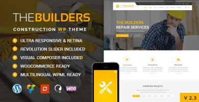 بیلدرز | The Builders - قالب وردپرس ساخت و ساز
