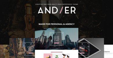 Andier - قالب نمونه کار تک صفحه ای و چند منظوره