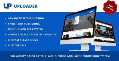 قالب Uploader - قالب سایت اشتراک گذاری رسانه