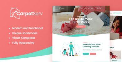 قالب CarpetServ - قالب وردپرس شرکت تمیزکاری