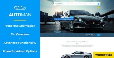 Automan - قالب پیشرفته وردپرس نمایشگاه خودرو