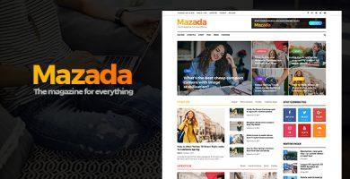 قالب Mazada - قالب وردپرس خبری و مجله