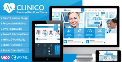 قالب کلینیکو | Clinico - قالب حرفه ای پزشکی و سلامتی وردپرس