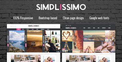 قالب Simplissimo - قالب وردپرس بلاگ و مجله