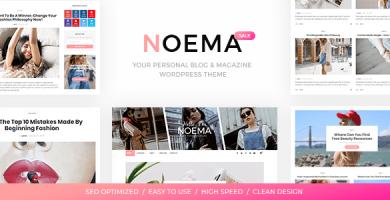 قالب Noema - قالب وبلاگ وردپرس شخصی