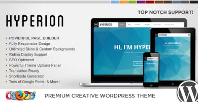 WP Hyperion - قالب وردپرس خلاقانه
