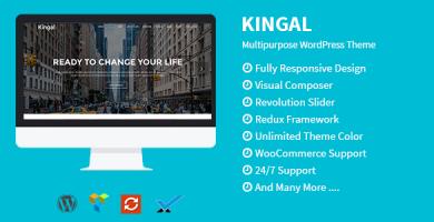 قالب Kingal - قالب وردپرس چند منظوره
