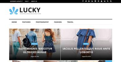 قالب Lucky - قالب مجله و وبلاگ وردپرس