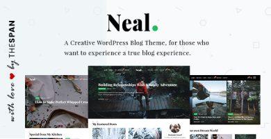 قالب Neal - قالب وبلاگی خلاقانه وردپرس